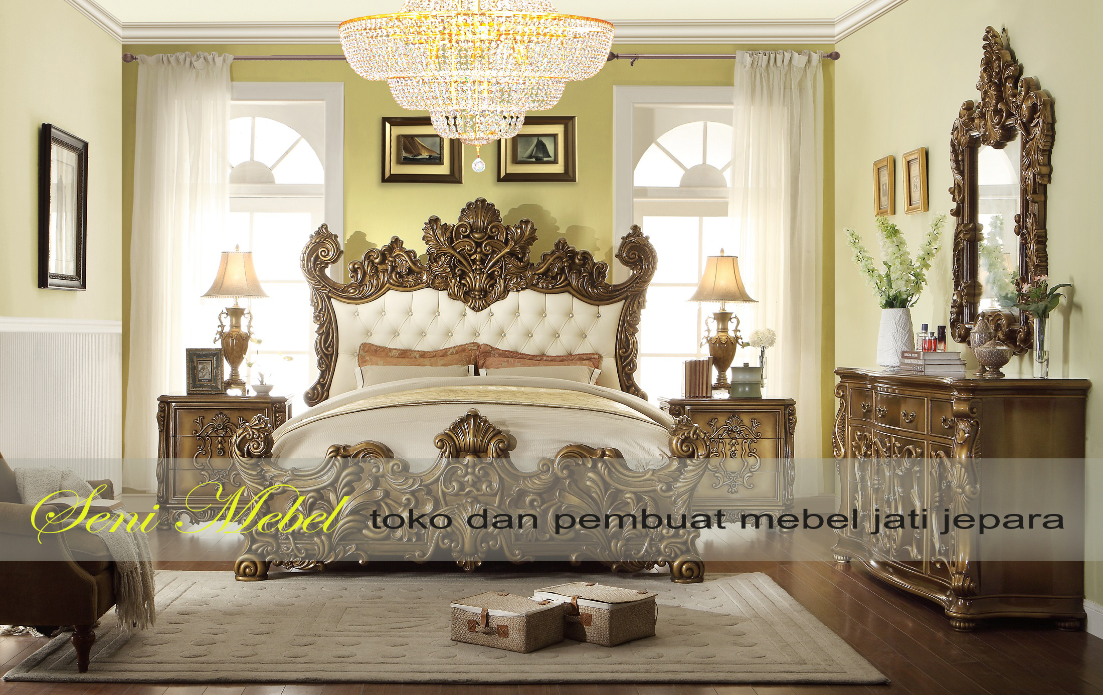 bed royal class ukiran klasik mebel jati jepara