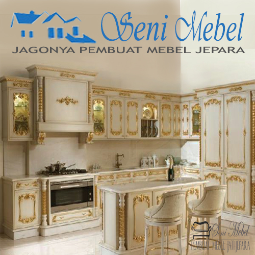 Kitchen Set Model Klasik Mewah Jati Jepara Seni Mebel