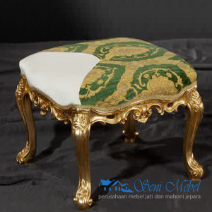 Kursi-Stool-Mahoni-Model-Antique-Gold-Leaf-Finish